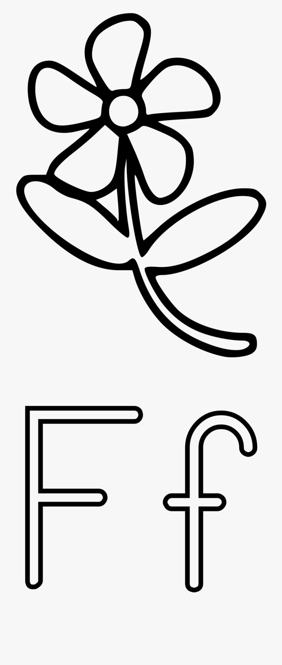 Letters Clipart Black And White - Con La Letra F Dibujos Para Colorear, Transparent Clipart