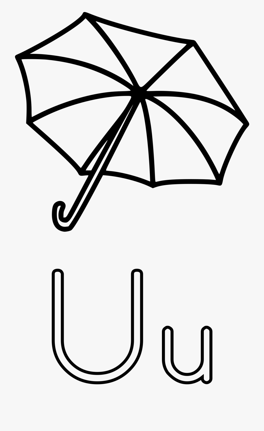 Transparent Letter Clipart Black And White - U Is For Coloring Page, Transparent Clipart