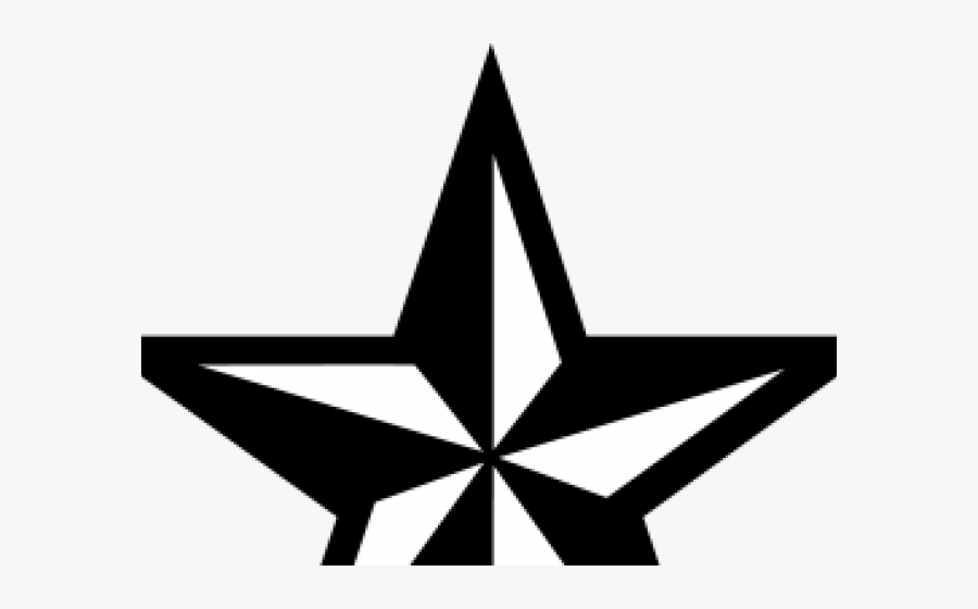 Transparent Nautical Star Clipart - Black And White Star Tattoo Png, Transparent Clipart