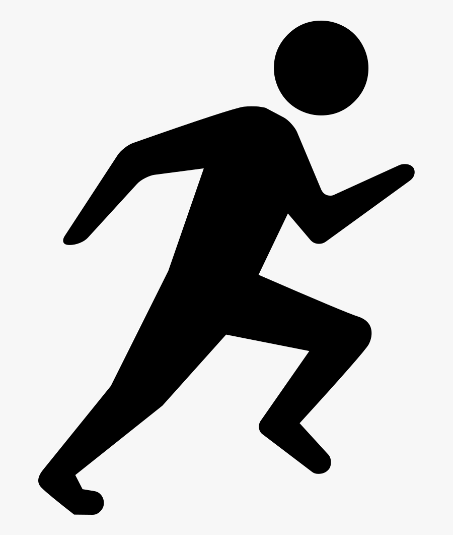 Clip Art Person Running Icon - Person Running Icon Png, Transparent Clipart