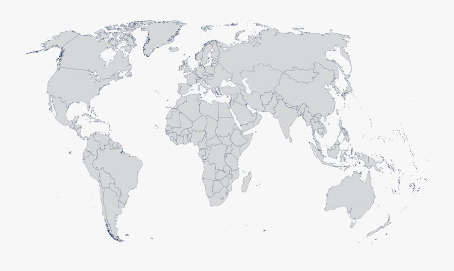 Transparent Malnourished Child Clipart - World Map No Copyright, Transparent Clipart