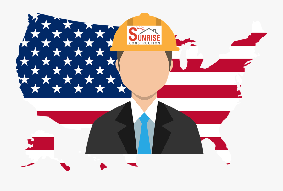 """Cullman Alabama""""s Licenced And Insured Construction - Map Of Usa With Flag, Transparent Clipart"""
