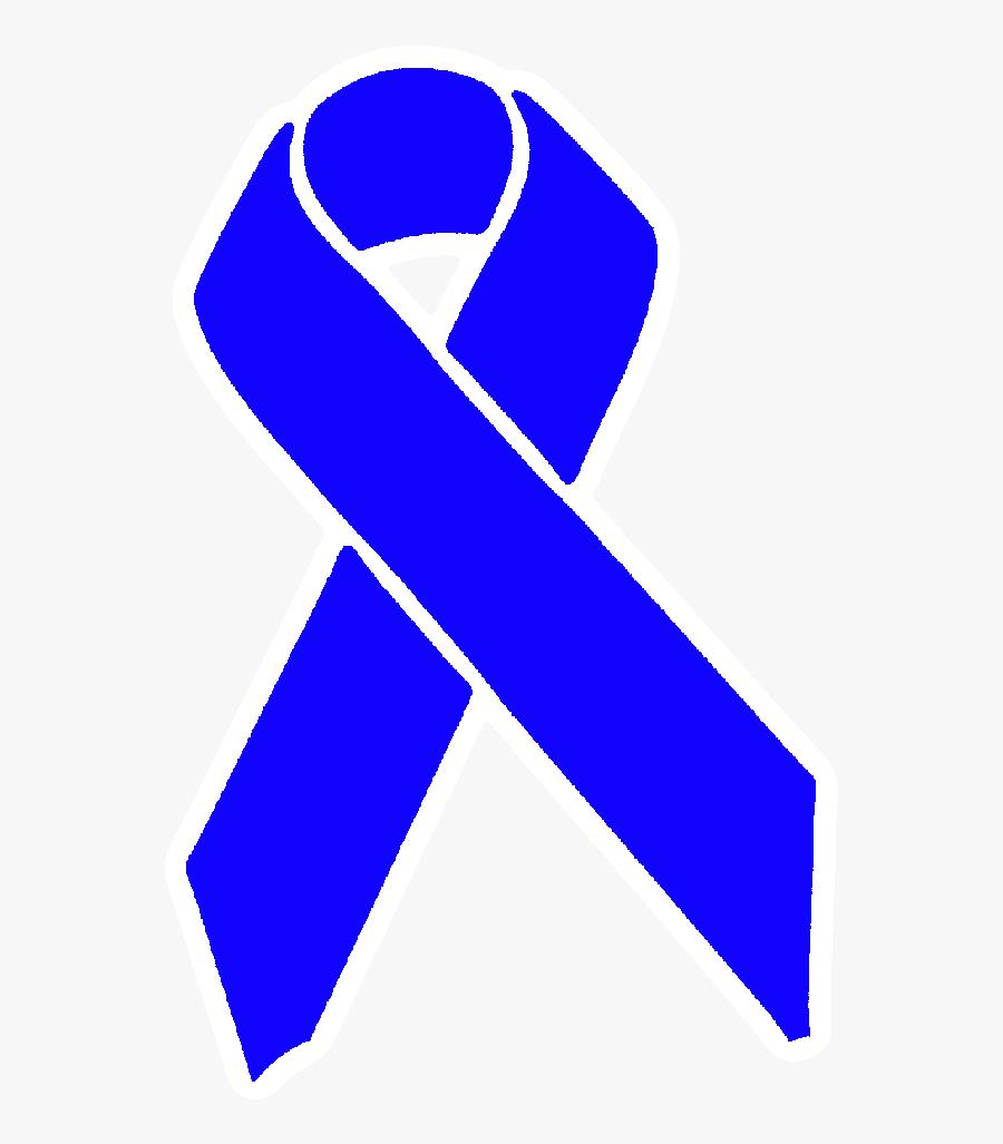 Awareness Ribbon Png - Light Blue And Dark Blue Ribbon, Transparent Clipart