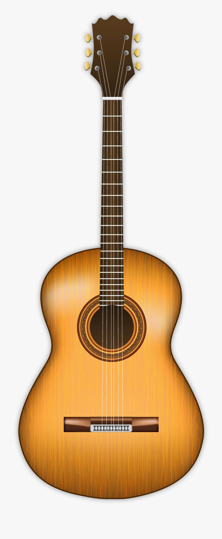 Guitar Clipart Png Image - Classical Parlor Guitar, Transparent Clipart