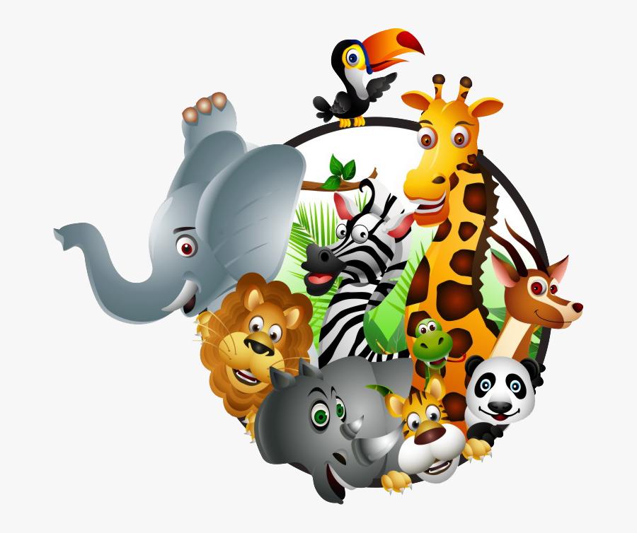 Animal Kingdom Clipart Safari Kid - Transparent Cartoon Safari Animals, Transparent Clipart