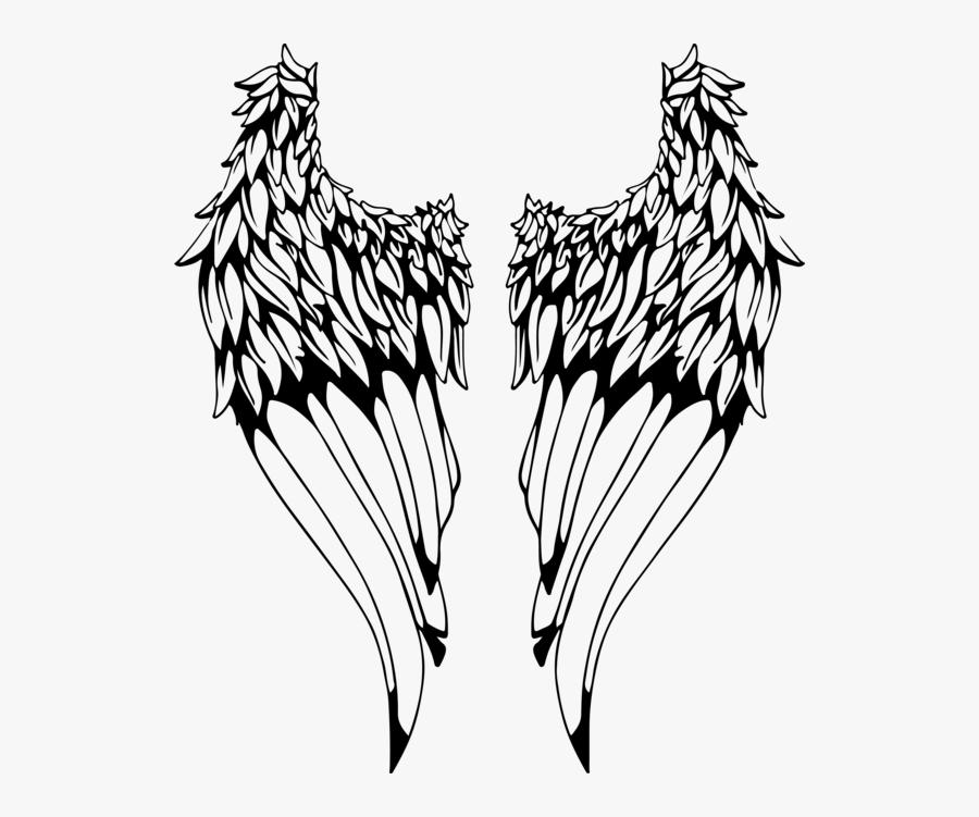 Wing Tattoo, Transparent Clipart