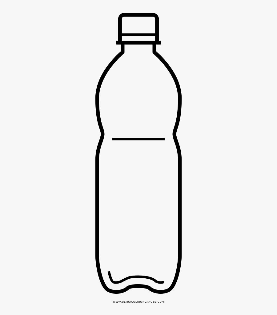 Plastic Bottle Coloring Page - Plastic Water Bottle Coloring Page, Transparent Clipart