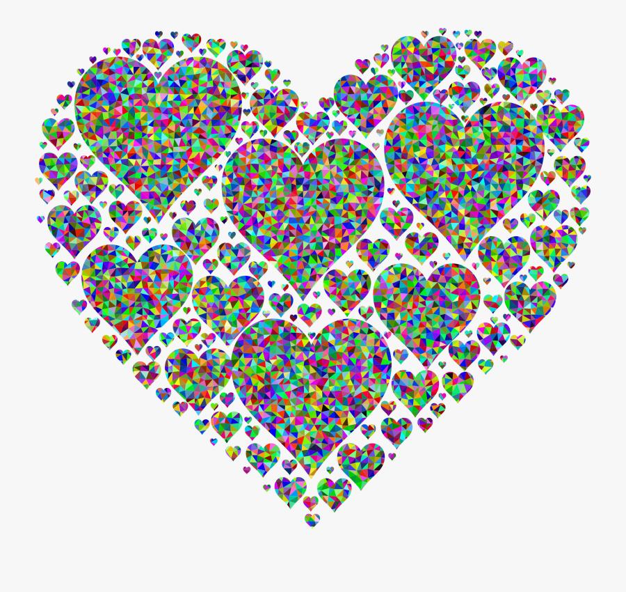 Paris Clipart Prismatic - Love Hearts, Transparent Clipart