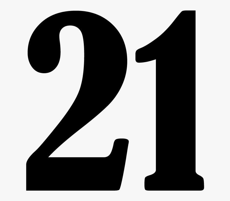 Parking Lot Number 21 Sign, SKU: K2-5003-21