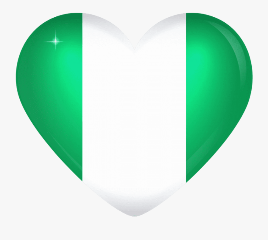 Download Nigeria Large Heart Flag Clipart Png Photo - Nigerian Heart, Transparent Clipart