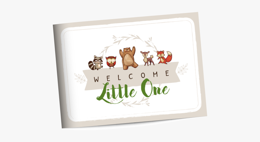 Woodland Baby Shower Guest Book, Transparent Clipart