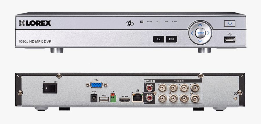 1080p Camera System With 8 Channel Dvr And 8 1080p - Lorex Dvr, Transparent Clipart