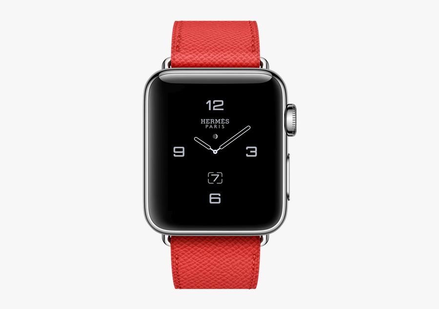 Clip Art Herm S Apple Clock - Apple Watch Series 2 Hermes, Transparent Clipart