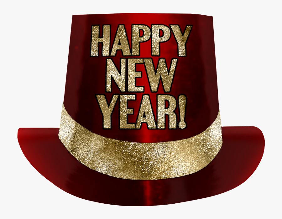 Transparent Happy New Year Hat Png - New Year Hat Transparent Background, Transparent Clipart