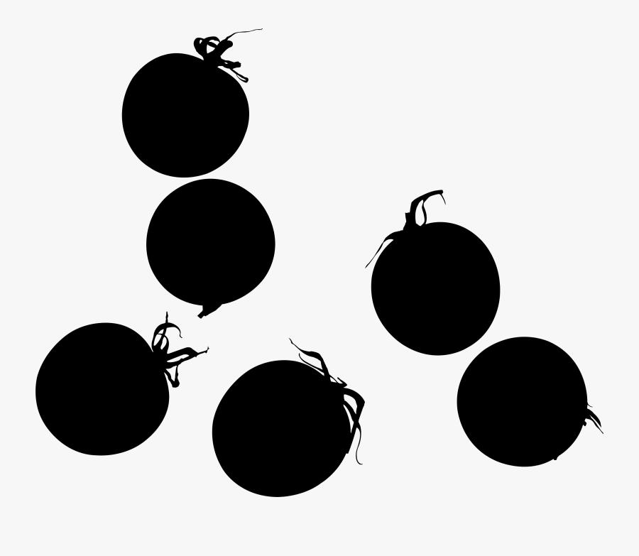 Tomato Silhouette - Cherry Tomato Png, Transparent Clipart