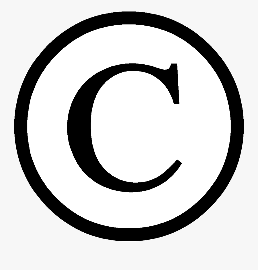 Transparent Copyright Clipart - Copyright Symbol Png Download, Transparent Clipart