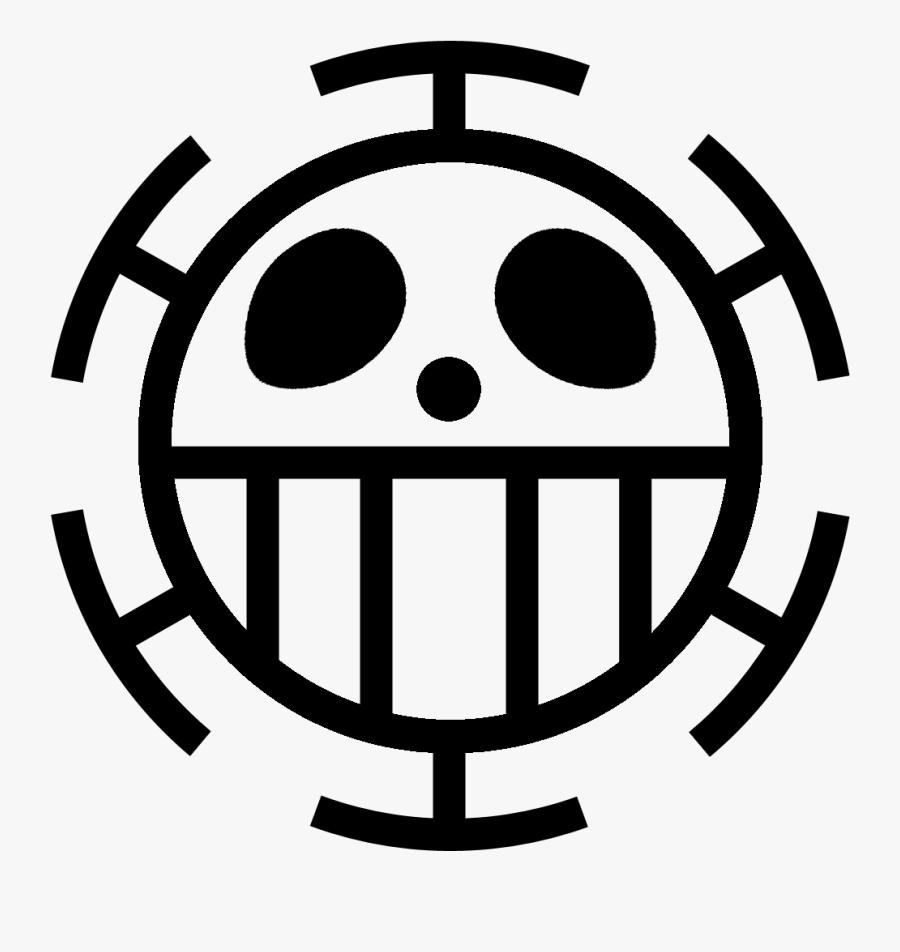 Lambang One Piece Trafalgar Law - Law Flag One Piece, Transparent Clipart