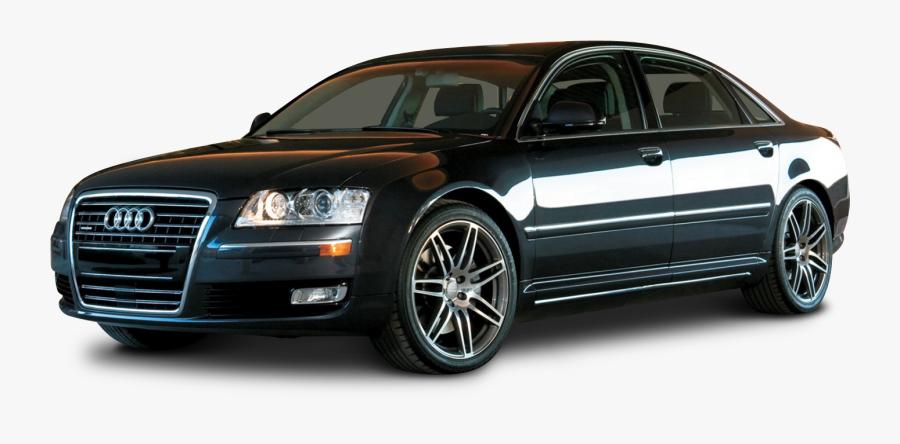 Audi A8 Black Car, Transparent Clipart