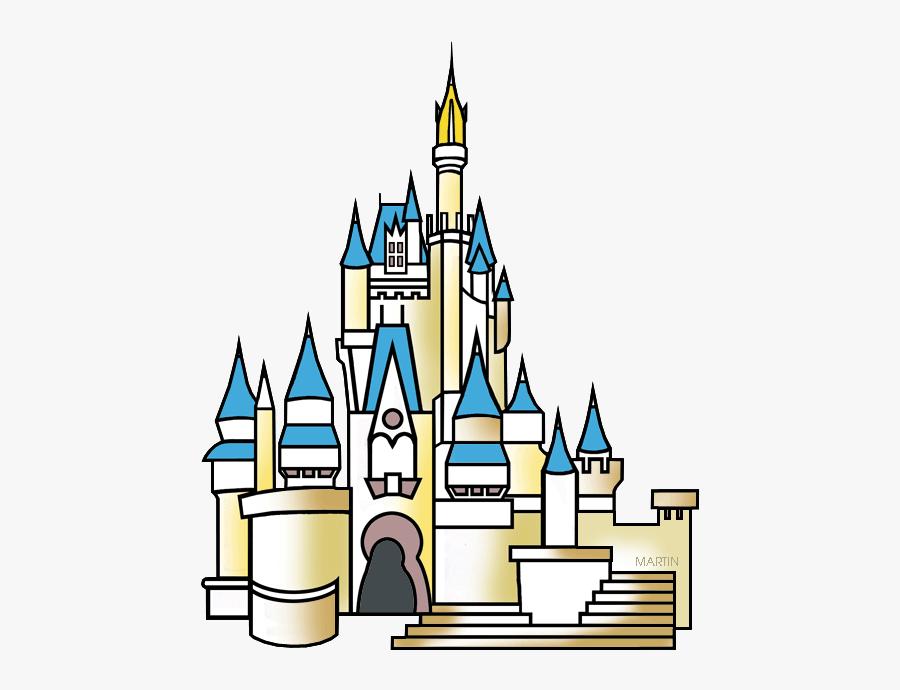 Architecture Clip Art By - Disney World Cinderella Castle Clipart, Transparent Clipart