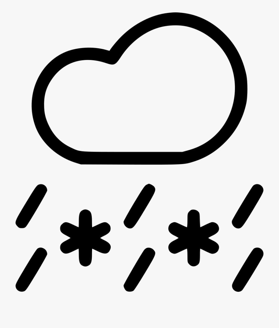 Sleet Snow Rain Cloud Snowfall Weather - Sun Snow Rain Cloud, Transparent Clipart