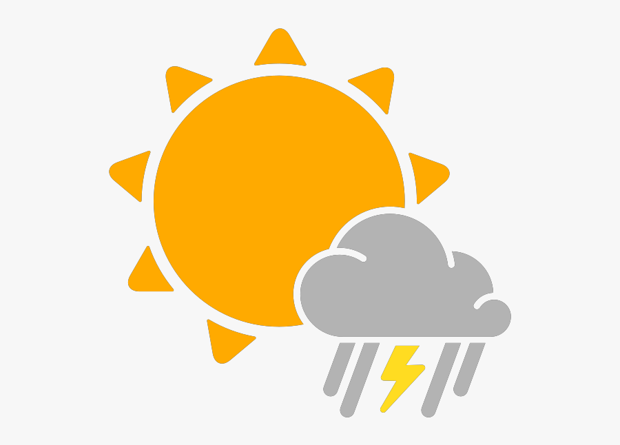 Transparent Rain Vector Png - Sunny Weather Icon Png, Transparent Clipart