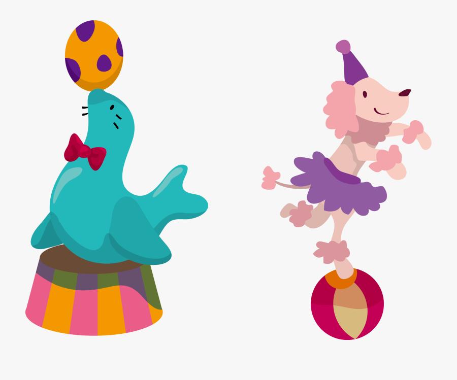 Circus animals watercolor clipart | Pre-Designed Photoshop Graphics ~  Creative Market