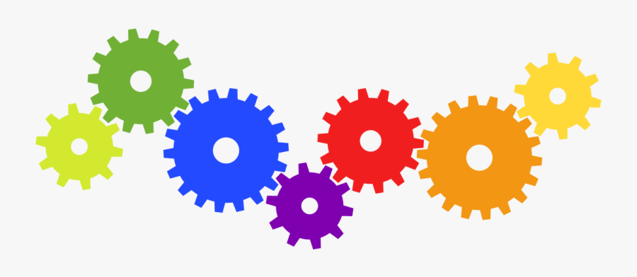 Clip Art Vector Graphics Gear Color Illustration - Gears Clipart Color, Transparent Clipart