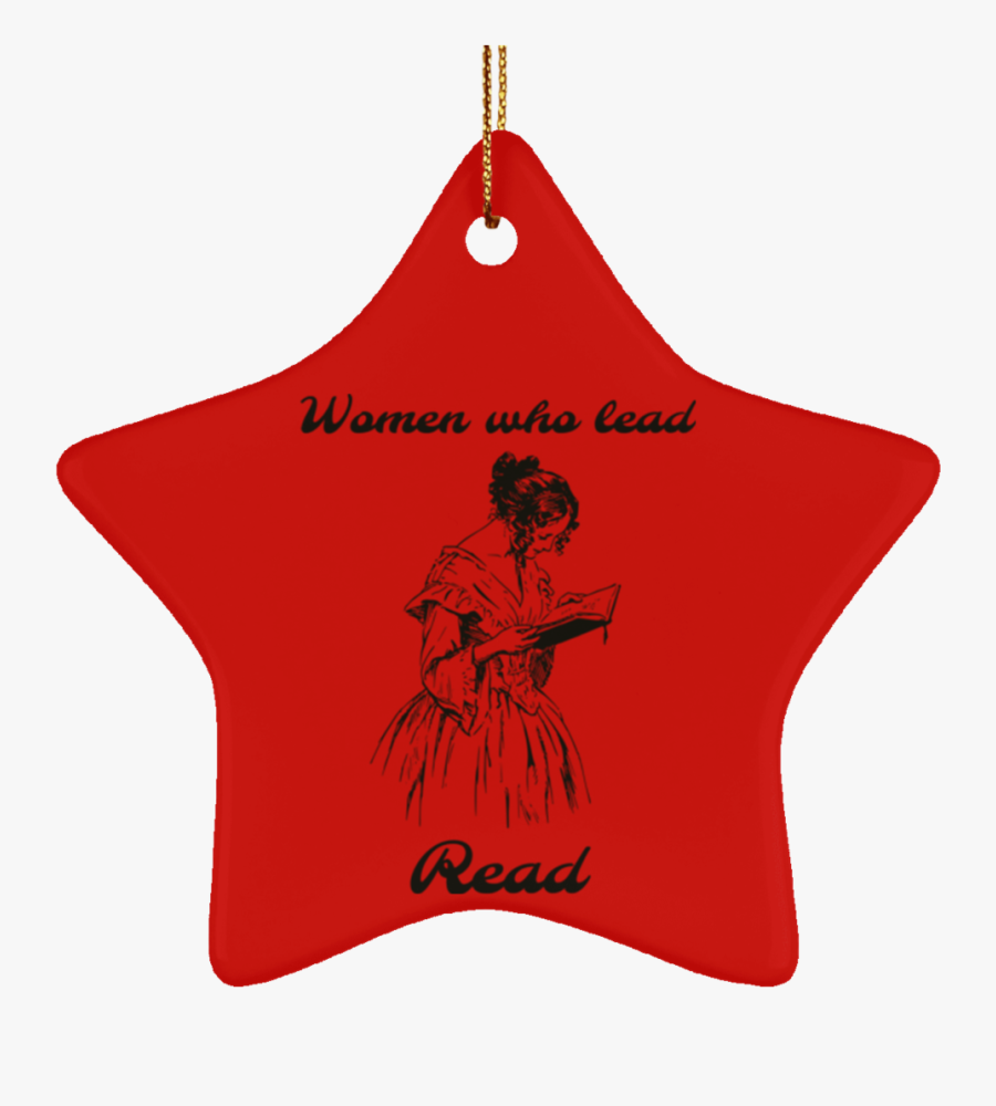 Women Who Lead Read - Christmas Ornament, Transparent Clipart