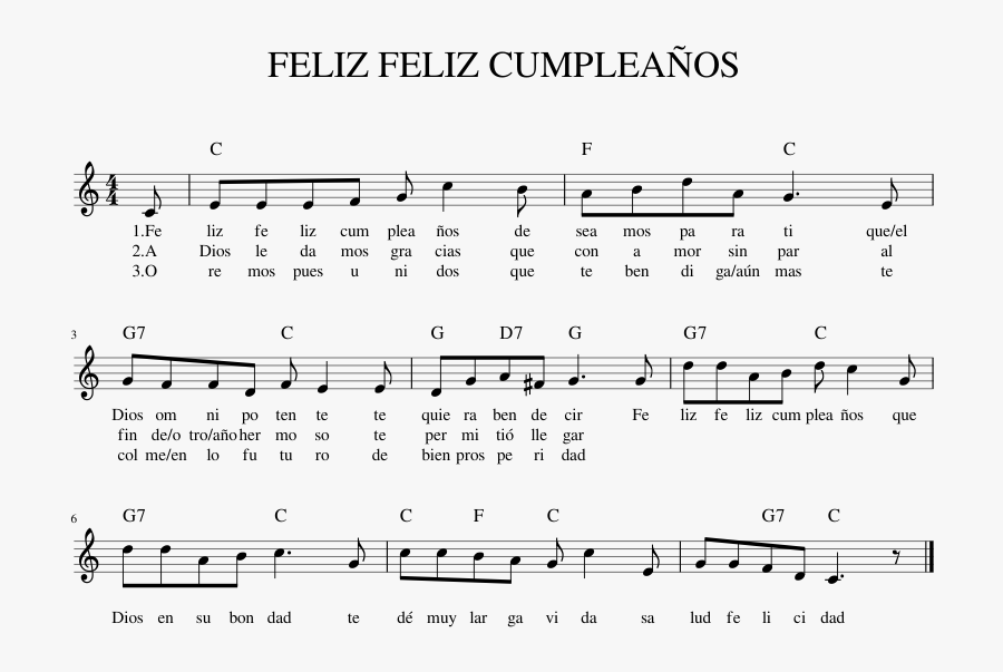 Feliz Feliz Cumpleaños Sheet Music For Piano Download - Mississippi River Violin Sheet Music, Transparent Clipart