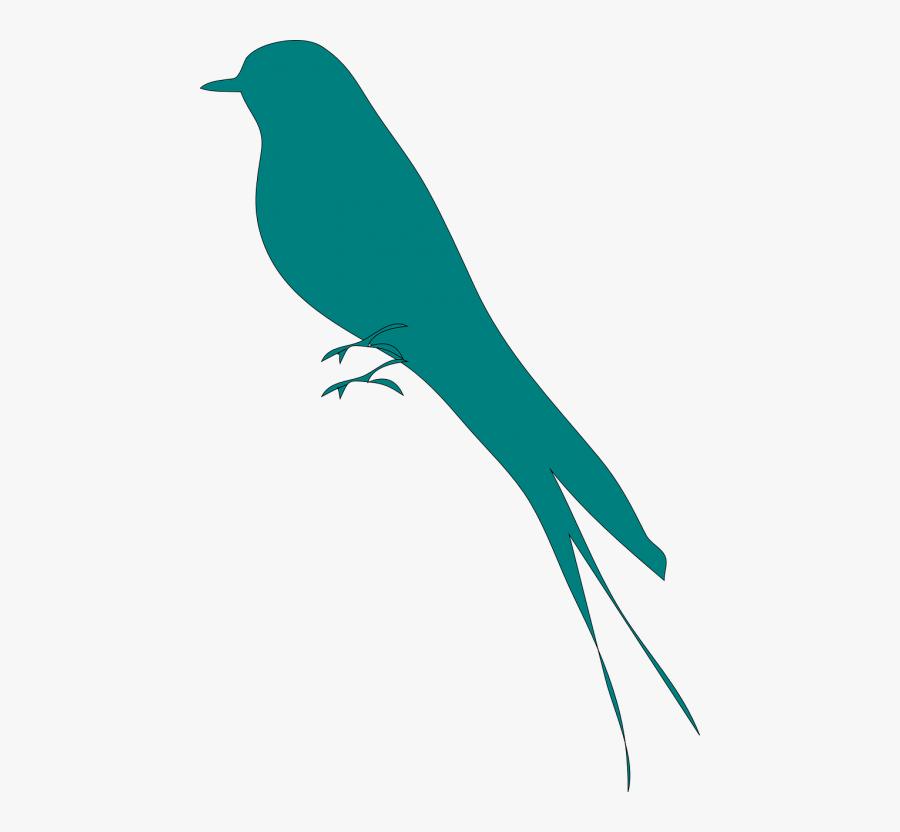 Swallow Martin Bird - Mockingbird Silhouette Clip Art, Transparent Clipart