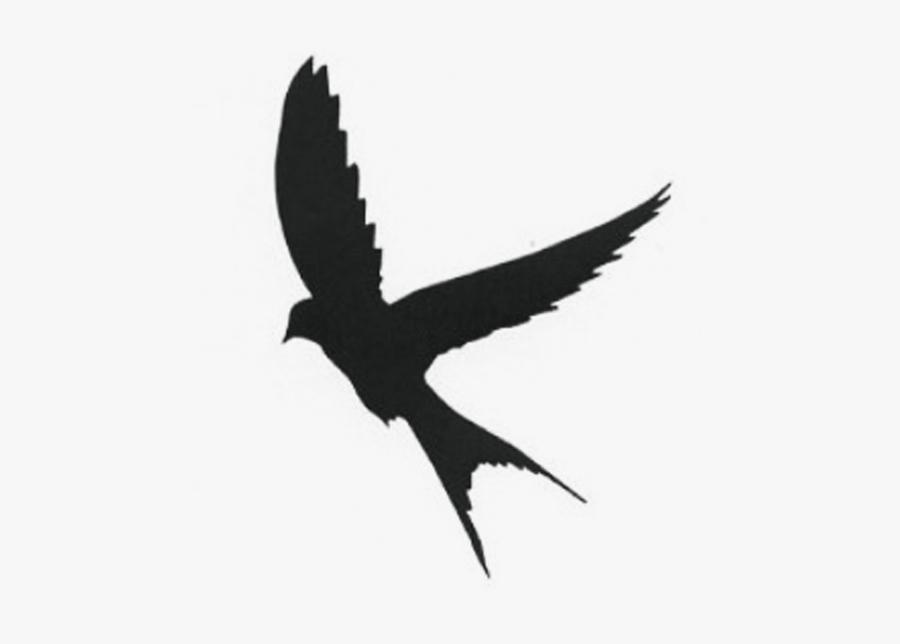 Silhouette Mockingbird Swallow - Bird Tattoo Silhouette, Transparent Clipart