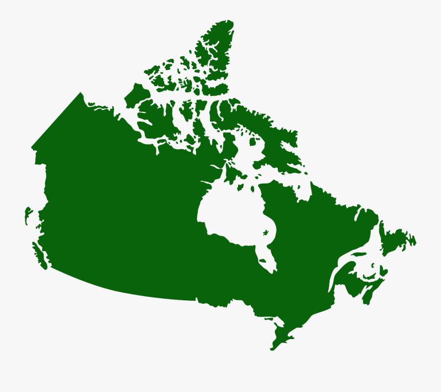 Canada Map Solid Color, Transparent Clipart
