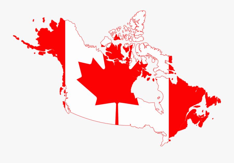 Map Clipart Map Canada - Canada Map Flag, Transparent Clipart