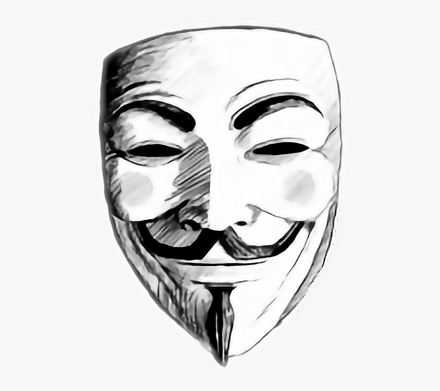 Guy Fawkes Mask Png -picture Transparent Stock Anonymous - V For Vendetta Draw, Transparent Clipart