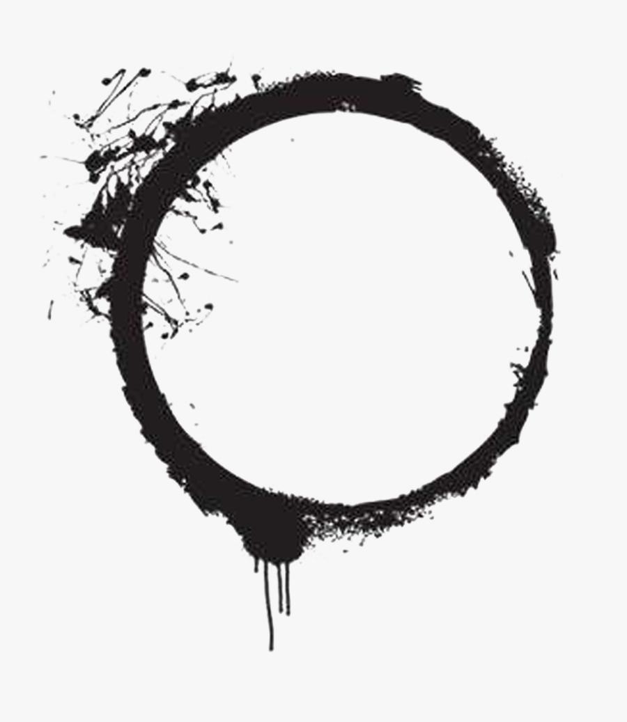 Transparent Black Paint Png - Black Paint Circle Png, Transparent Clipart