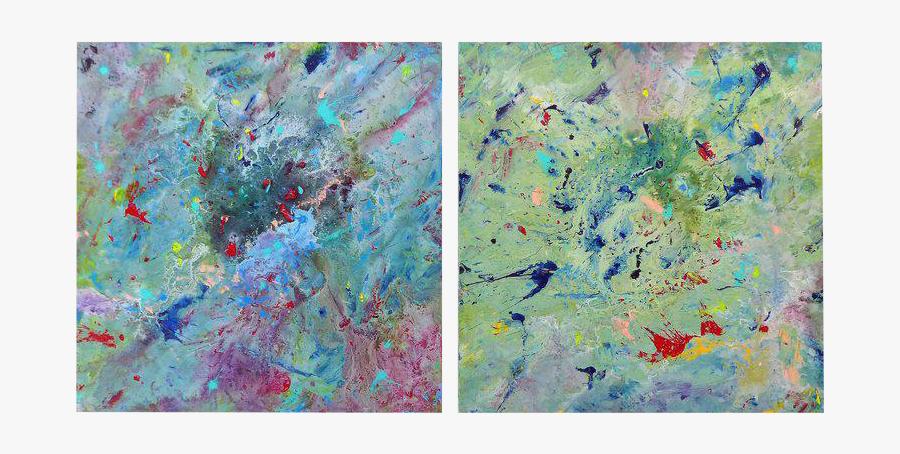 Clip Art Acrylic Paint Textures - Abstract War Painting, Transparent Clipart