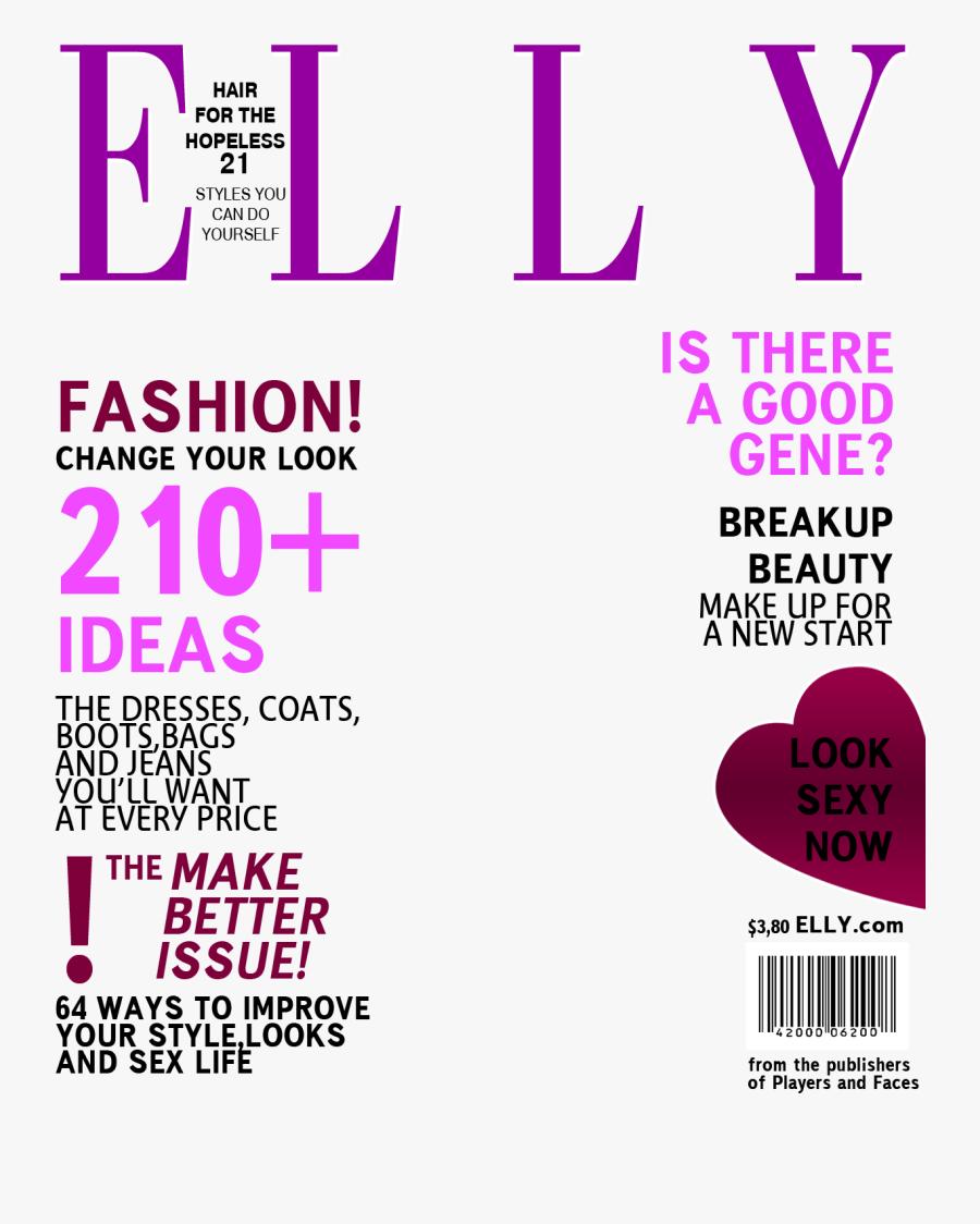 Clip Art Fake Magazine Cover Template Photoshop - Fashion Magazine Cover Template Png, Transparent Clipart