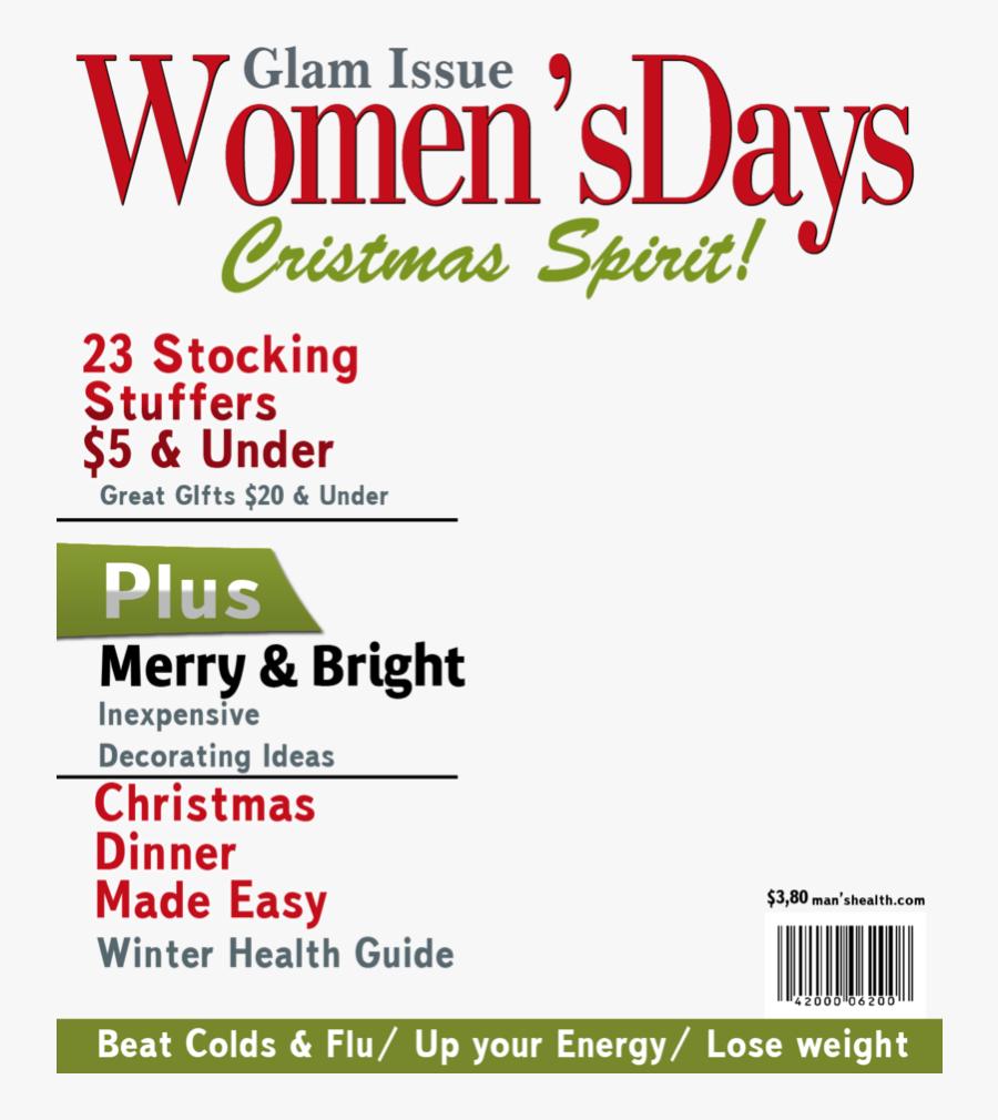 Christmas Magazine Cover Template, Transparent Clipart
