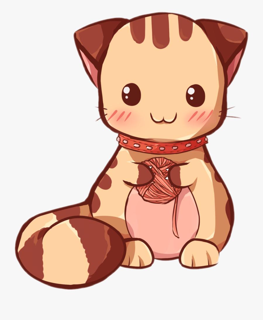 Kawaii Clipart Cat - Cartoon Kawaii Animales Cute, Transparent Clipart