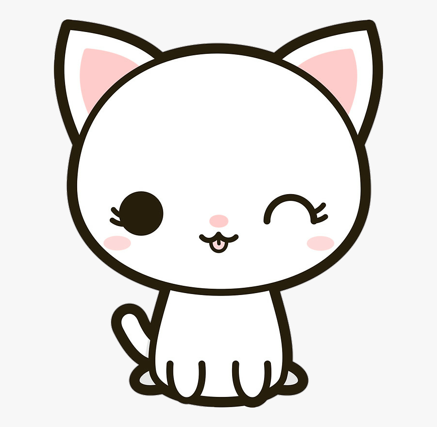 Download Stickers Kawaii Clipart Sticker Cat Kawaii - Kawaii Kitty, Transparent Clipart