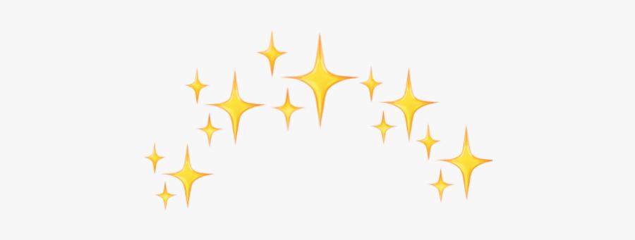 #freetoedit - Crown Stars Yellow Emoji, Transparent Clipart