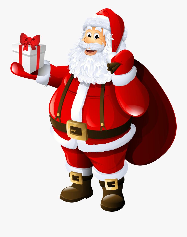 Claus Santa Claus Gift Clip Art - Christmas Cards Santa Claus, Transparent Clipart
