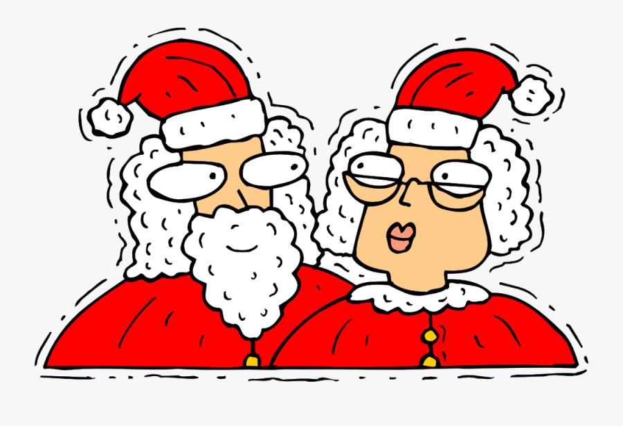 Commons - Wikimedia - Org Colouringbook - - Papa Noel Y Mama Noel Dibujo, Transparent Clipart