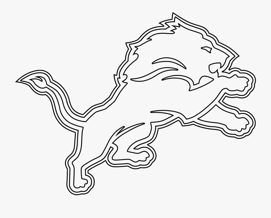 Detroit Lions Logo Coloring Page 6 By Carol - Football Logos All Coloring Pages, Transparent Clipart