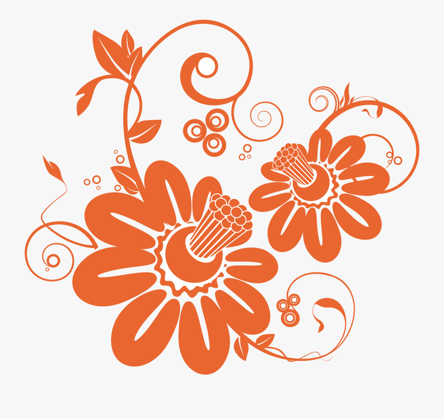 Transparent Abstract Flower Clipart - Floral Abstract Png, Transparent Clipart