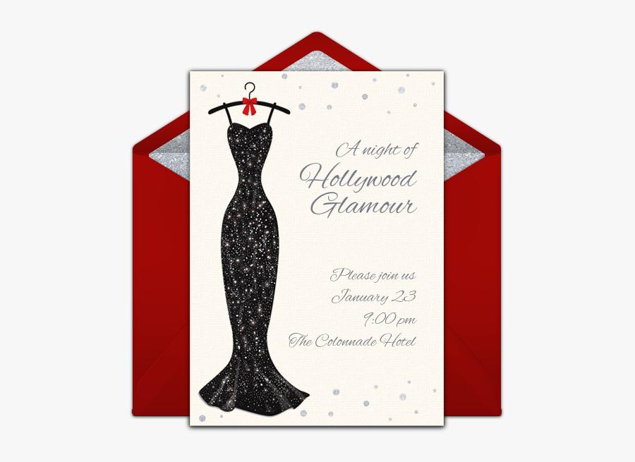 Transparent Fashion Show Clipart - Hollywood Theme Party Invitation, Transparent Clipart