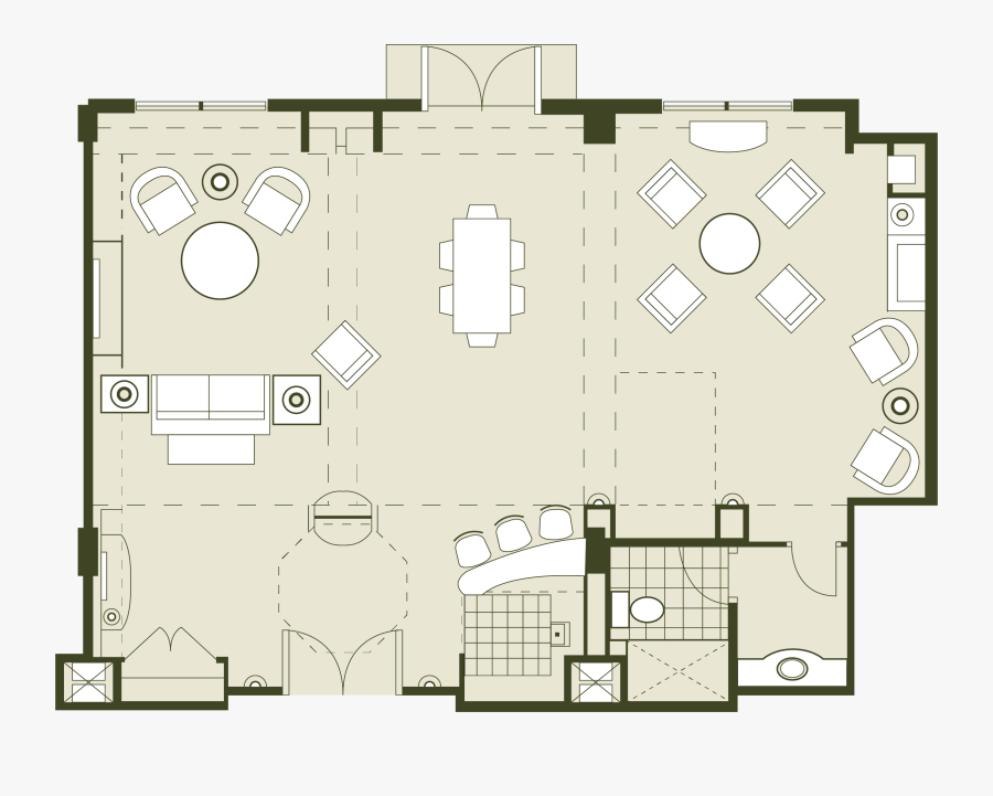 Luxury Orlando Meeting Convention Hotel Hospitality - Hospitality Suite Room Floor Plan, Transparent Clipart