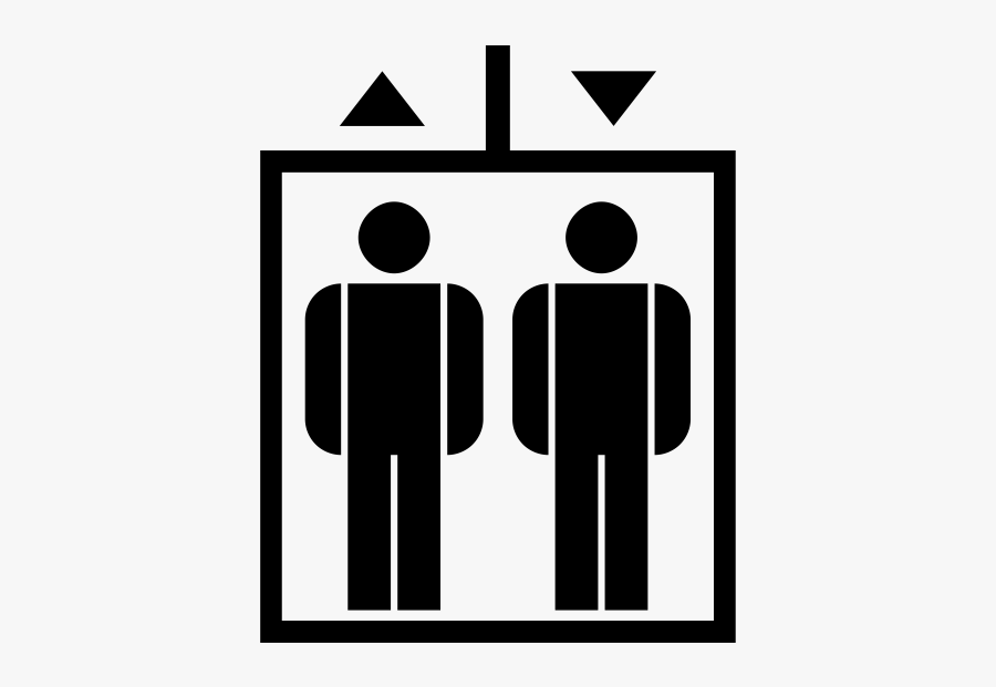 Elevator Clipart Full - Car Capacity Passenger And Luggage Icon Png, Transparent Clipart