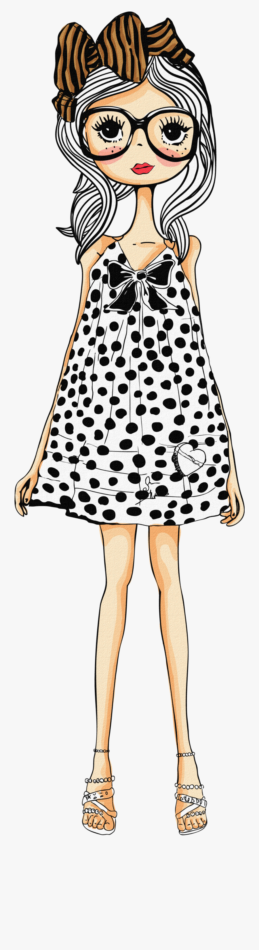 Doll Png By Julii - Best Friend Cartoon Images Girls, Transparent Clipart