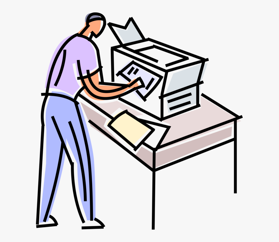 Vector Illustration Of Office Photocopier Copies And - Maquina De Xerox Png, Transparent Clipart